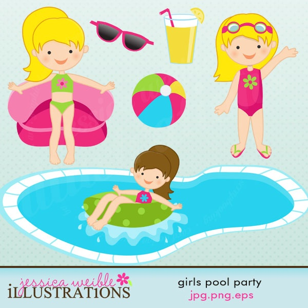 Girls Pool Party Graphics