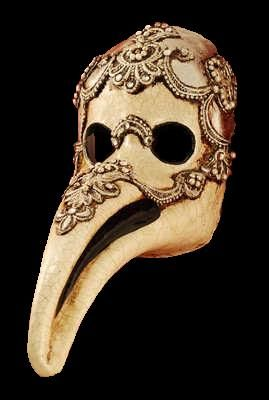 Plague Doctor Masquerade Mask - Macrame Silver #NailSpiration #MyVampireIsBuff #OPIEuroCentrale