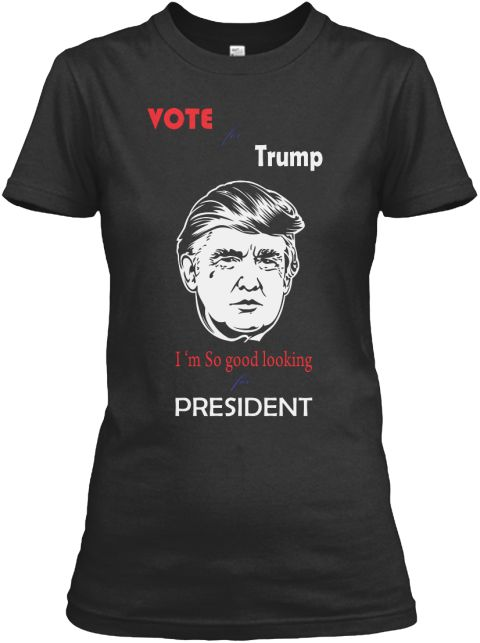 Vote For Trump Black T-Shirt Front