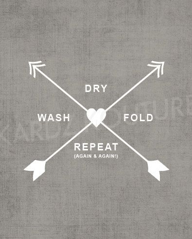 Laundry Room Print // wash dry fold repeat again & by kardzkouture