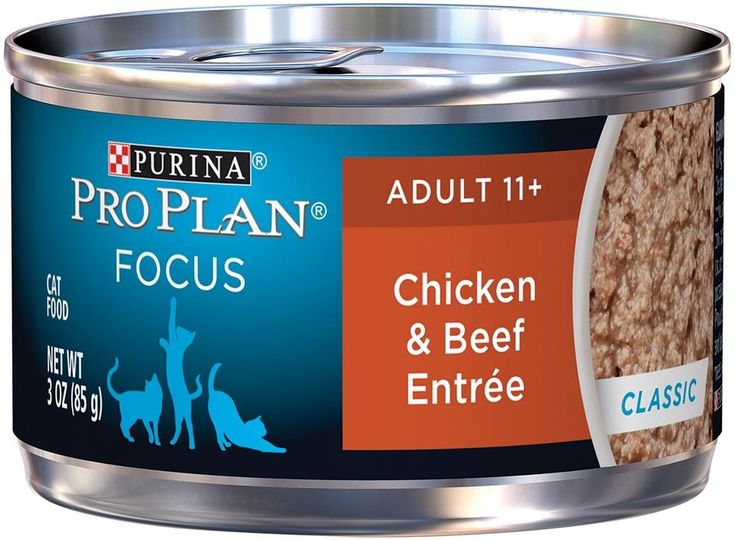 Purina Pro Plan Focus Senior Cat 11 + Chicken and Beef Entree Canned Cat Food
