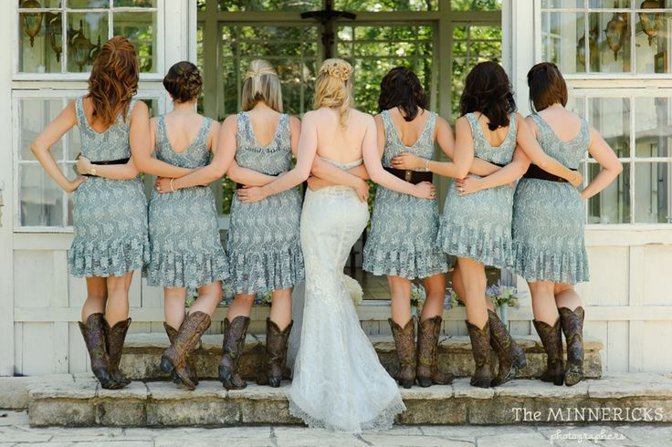 blue lace wedding country bridesmaids cowboy boots #SomethingBlueEventsTexas