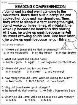 2nd Grade Reading Comprehension Passages and Questions | Reading and ...