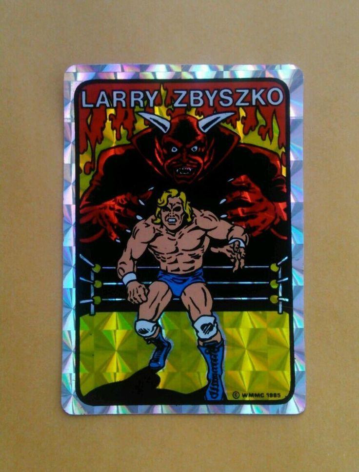 Larry Zbyszko 1985 WMMC Vending Machine Prism Wrestling Sticker WWF WWE NWA AWA