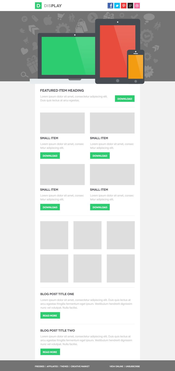 Display Email PSD Template Version 3