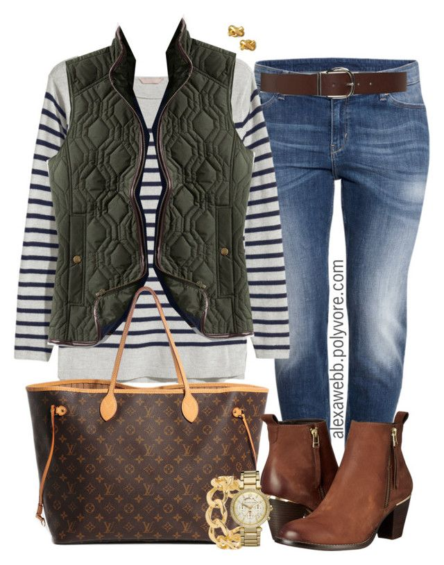 """""""Plus Size - Casual Fall Vest"""" by alexawebb ❤ liked on Polyvore featuring H&M, Lands' End, Louis Vuitton, Steve Madden, Torrid, Michael Kors, Kate Spade, outfit, plussize and plussizefashion"""