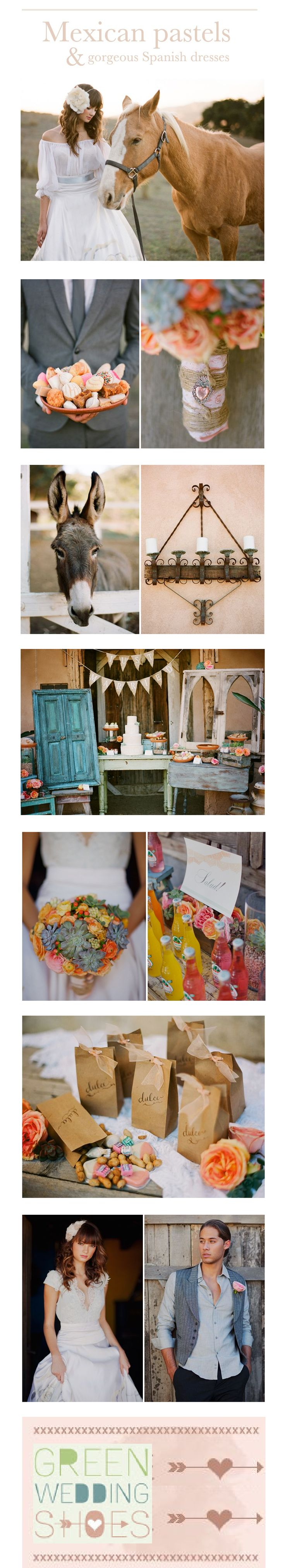A BEAUTIFUL HISPANIC STYLE WEDDING. SO ELEGANT AND HAS TEX MEX, SPANISH, COUNTRY AND MEXICAN TOUCHES.