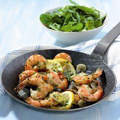 Scampi's met knoflook Recept   Weight Watchers België