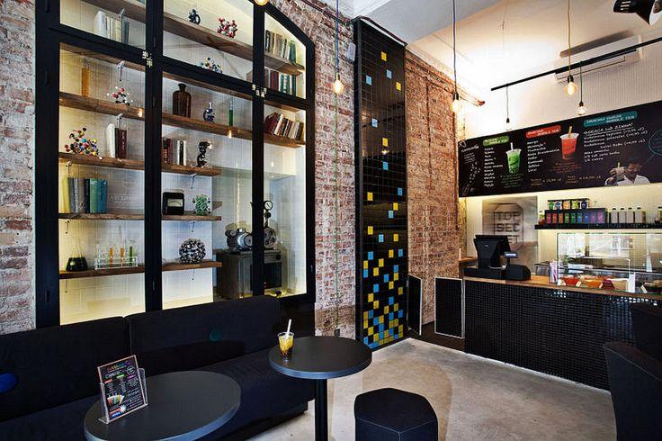 Sixfingers Bar Bubbleology Chmielna Aranżacja małego lokalu