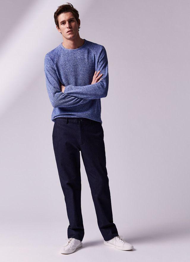 Jersey melange cuello caja - Para él | Adolfo Dominguez shop online