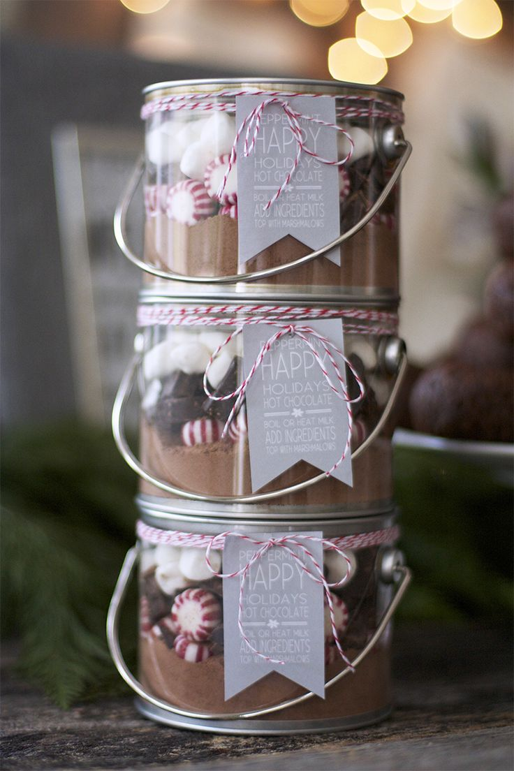 DIY - Peppermint Hot Cocoa Gifts + Free PDF Printable Tags