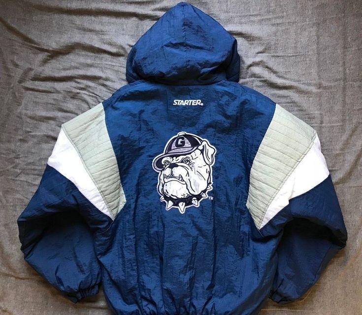 Men's vintage 90's Starter NCAA Georgetown Hoyas hooded puller jacket size L   Sports Mem, Cards & Fan Shop, Fan Apparel & Souvenirs, College-NCAA   eBay!