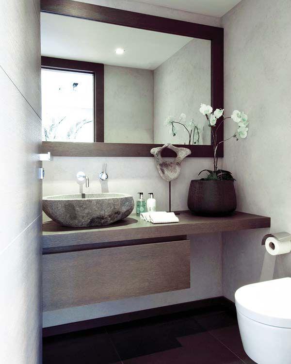 20 ideas de decoración para baños modernos pequeños 2015                                                                                                                                                                                 Más