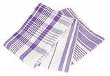 Patterned Purple Tea Towels Set of Three  - $27.65 at The Purple Store