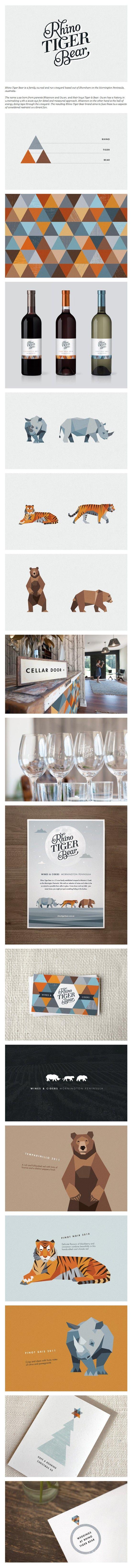Rhino Tiger Bear #identity #packaging #branding #marketing PD