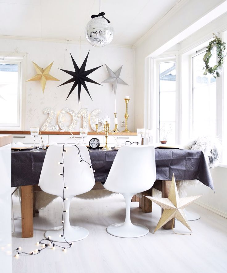 Kitchen newyears tablesetting