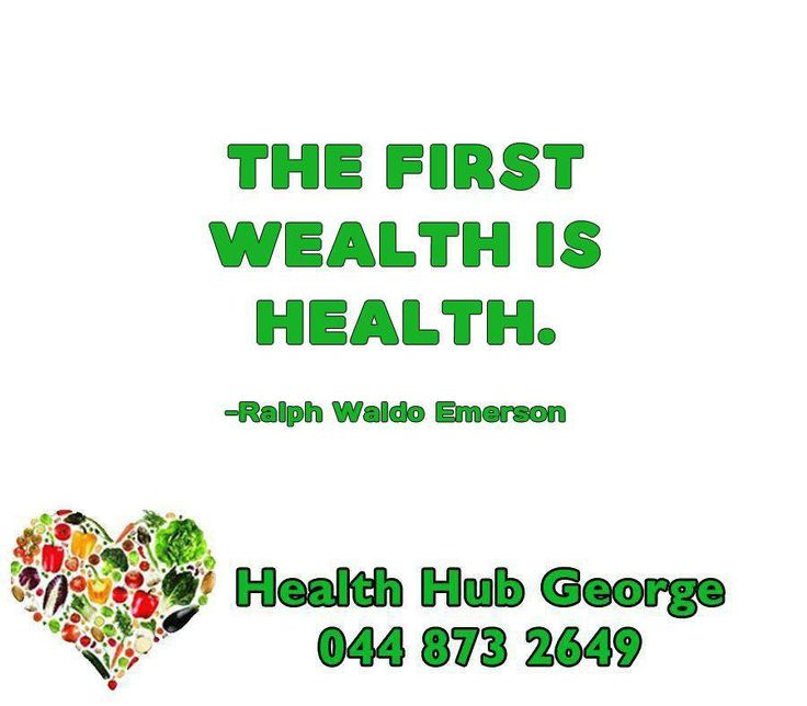 """The first wealth is health."" -Ralph Waldo Emerson #HealthHub #SundayMotivations"