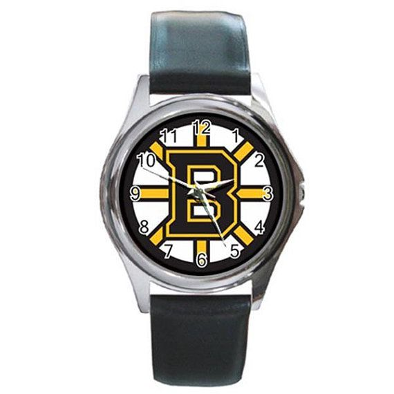 Rare NWT NHL Boston Bruins Round Watches by ributributbro on Etsy