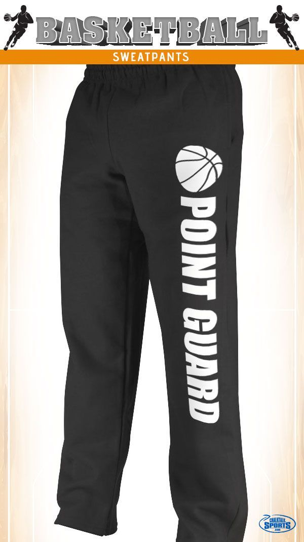 The basketball sweatpants are comfortable and feature your position going down the pant leg. See these sweatpants and more on our website.