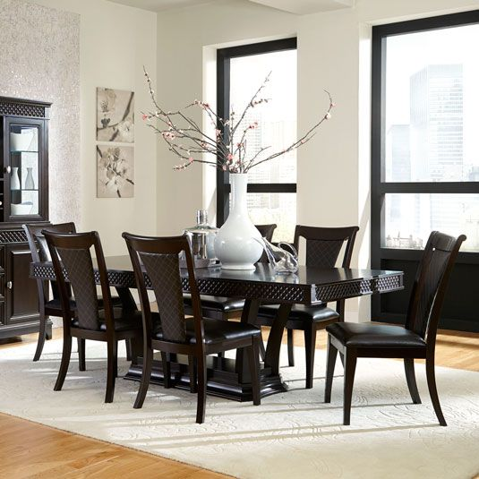 Sonoma 7pc dining set table 6 side chairs jerome 39 s for Jerome s furniture