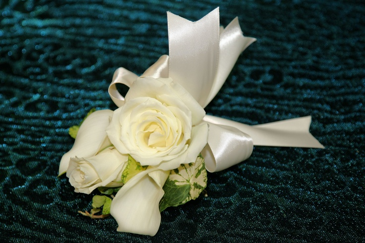 Calla Lily and Rose Corsage: Rose Corsage, Coral Rose