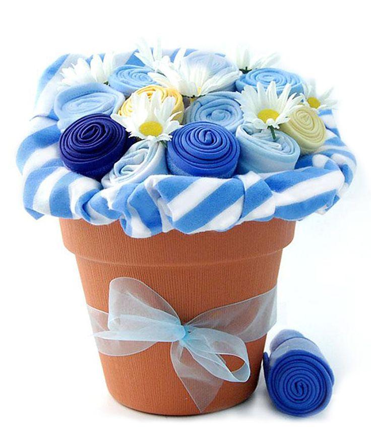 Baby blossom bouquet instead of a diaper cake.