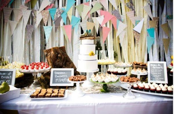 wedding dessert table decor