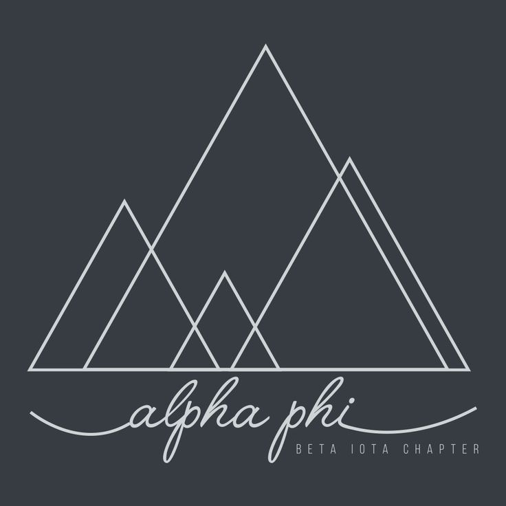 Alpha Phi Geometric Mountain Design  by College Hill Custom Threads sorority and fraternity greek apparel and products! Customize this design for your chapter today.   Custom Greek Apparel, Sorority Tee Shirts, Sorority Shirt Designs,  Sorority Shirt Ideas,  Greek Life, Hand Drawn, Sorority Sisterhood, APhi, Philanthropy.