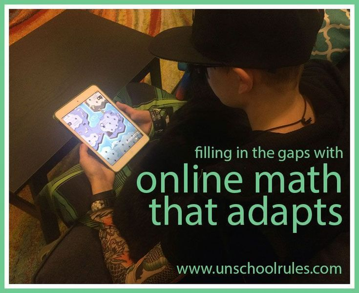 An adaptive online math program for pre-algebra, algebra 1, geometry and algebra 2 helps teens fill in the gaps. Check out one family's experiences in this review of the Knowre system on Unschool Rules. #onlinemathprograms #studymathonine
