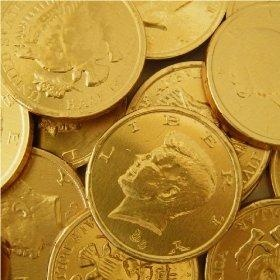 Chocolate Coins - so hard to unwrap with little kid fingers, tho!