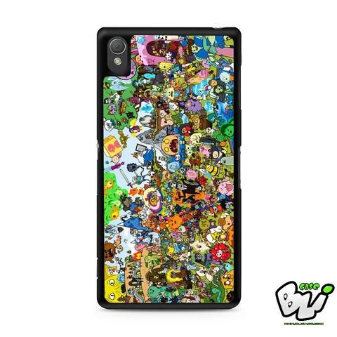 Adventure Time All Character Sony Experia Z3,Z4,Z5,C3,C4,E4,M4,T3 Case,Sony Z3,Z4,Z5 MINI Compact Case