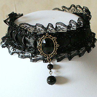 """Bijoux fantaisie Mariage Collier Choker Gothique """"Lolita"""" par Un Jour Spécial : accessoires & décorations de mariage"""