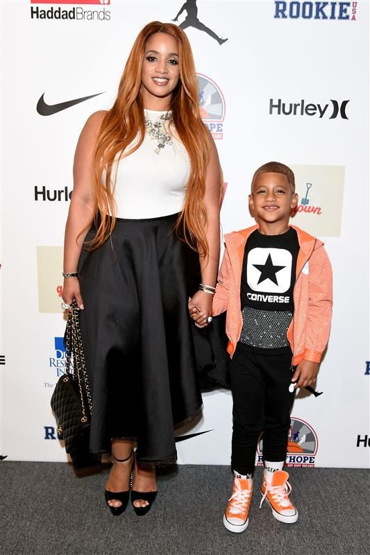 Dascha Polanco and her son Aryam attend Rookie USA Presents Kids Rock! during New York Fashion Week: The Shows September 2016 at The Dock on Sept. 8, 2016