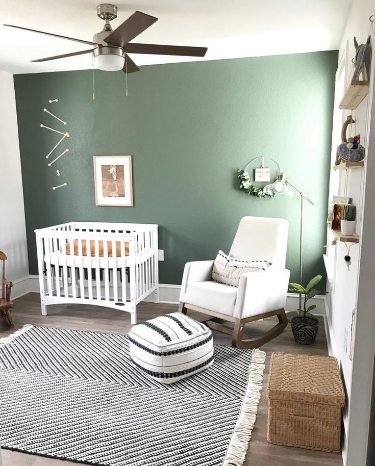 Modern Boho Nursery 2019 Green Boys Room Boys Bedroom Green