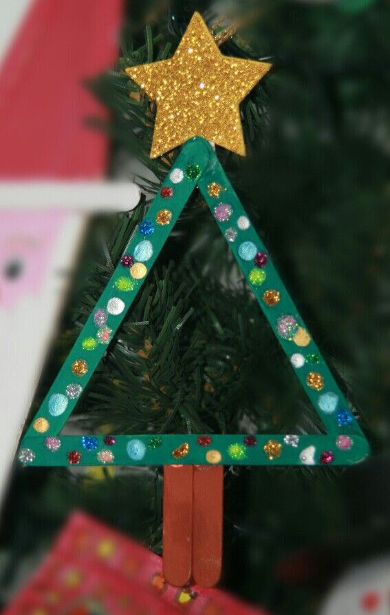 Diy for kids Christmas tree ornament. You can even use it as a photo frame.