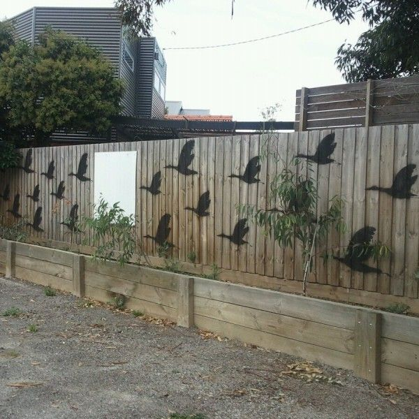 Stencil On Some Nature In Action. At, Http://www.gardenbeet · Garden Wall  ArtFence ...
