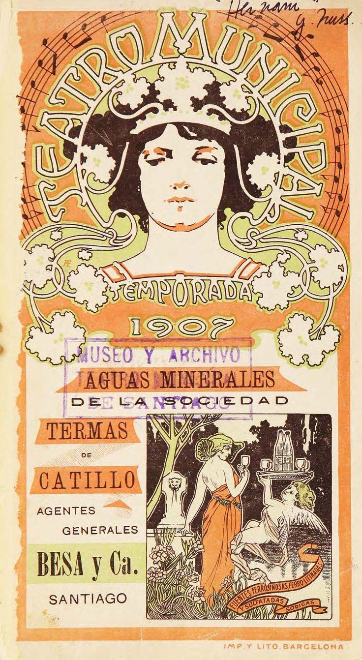 """Programa de sala de la Opera """"Hernani"""" de Giuseppe Verdi, del año 1907. Colección de Programas de Sala, Centro de Documentación de las Artes Escénicas del Teatro Municipal de Santiago."""