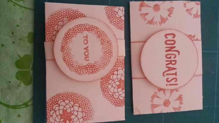 Gift card holder met Hema papier & stampin up stempel  [Made by Mandy ]
