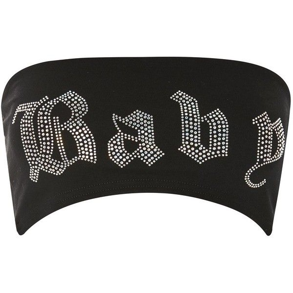 'Baby' Diamante Bandeau Crop Top by Jaded London (33 CAD) ❤ liked on Polyvore featuring tops, crop top, shirts, multi, cropped shirts, cotton bandeau top, bandeau crop top, bandeau shirts and bandeau shirt tops