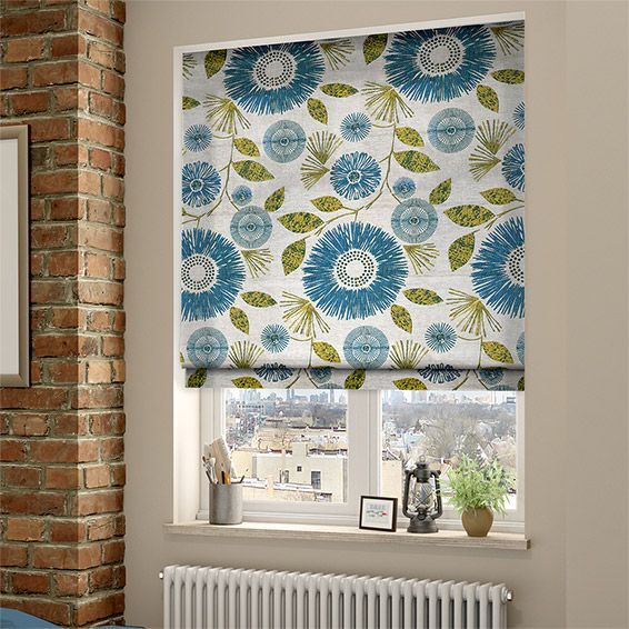 Melody Teal Roman Blind from Blinds 2go