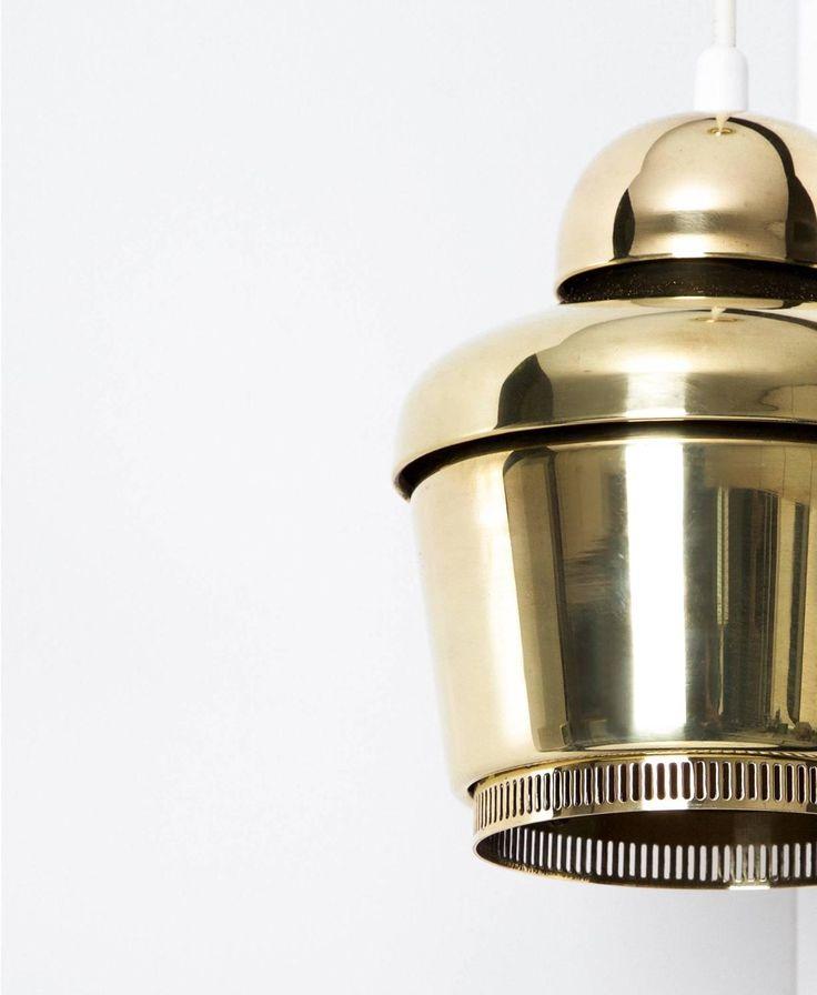 Alvar Aalto - Golden bell ceiling lamp 1954 - model A330