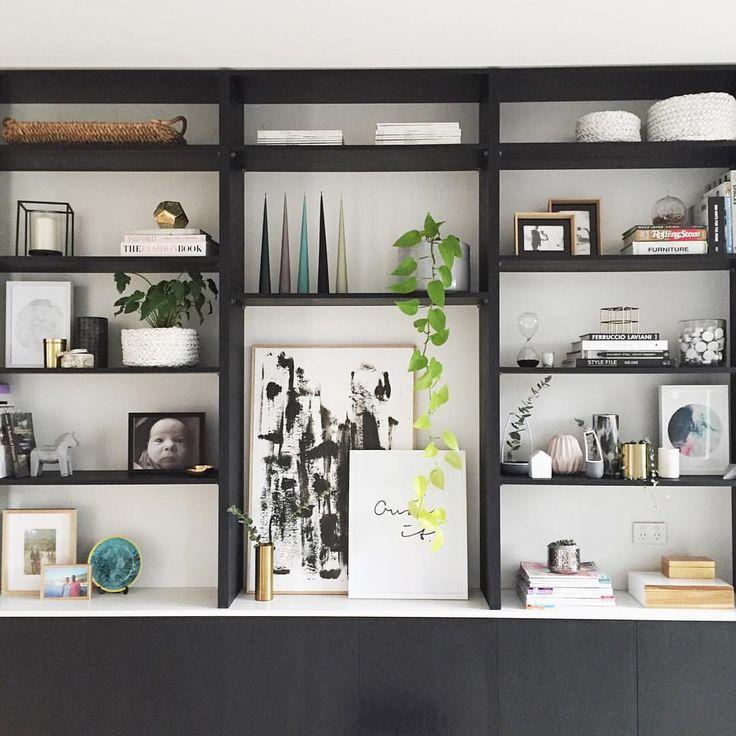 Find This Pin And More On L I V N G R O M Black White Bookcase