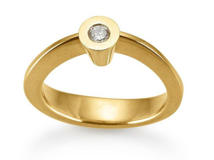 Aagaard Unique Ring i 14 kt. Guld m. brillant