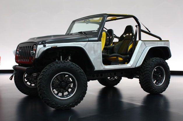 Jeep Wrangler Stitch Concept Off-Road Vehicle. Possible new design for next-gen Wranglers in 2016.