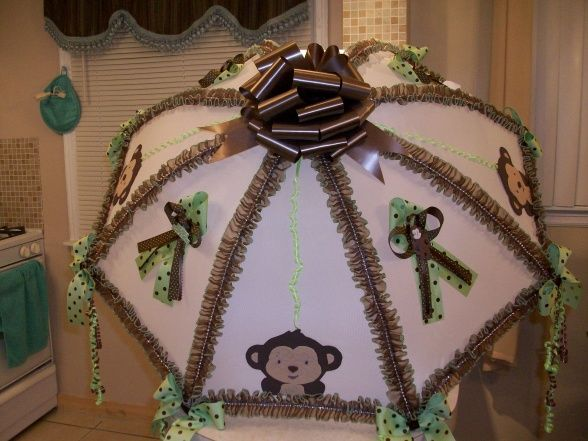 baby shower, Monkey theme baby shower, baby shower umbrella , Gift Ideas Project