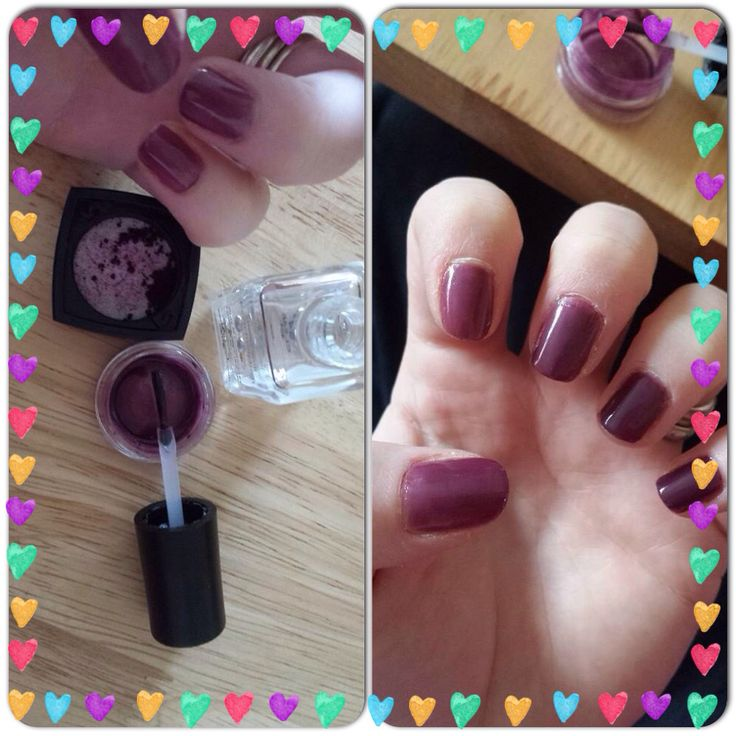 Mineral pigment used as nail varnish these things are so versatile!!!..