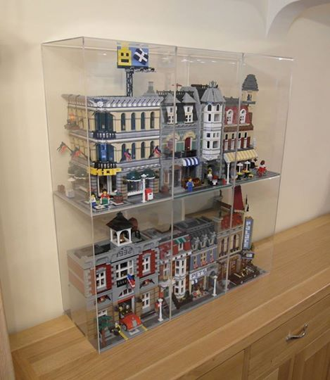 Nice clear display boxes for my Lego 0182 Cafe Corner, 10185 Green Grocer, 10197 Fire Brigade, 10211 Grand Emporium, 10218 Pet Shop & 10232 Palace Cinema.
