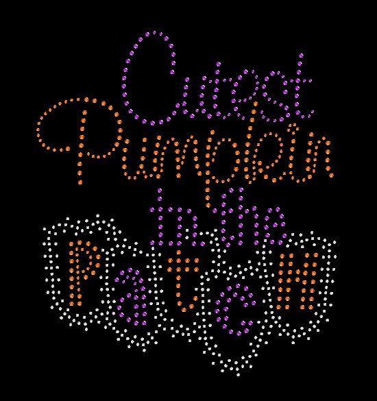Cutest Pumpkin in the Patch Holloween by BlingnPrintStreet on Etsy