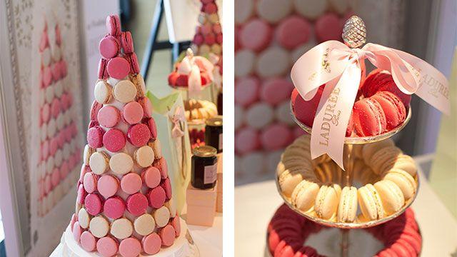 Tasty sweet bomboniere ideas from Laduree at the Collette Dinnigan Bridal Showcase at Park Hyatt Sydney.