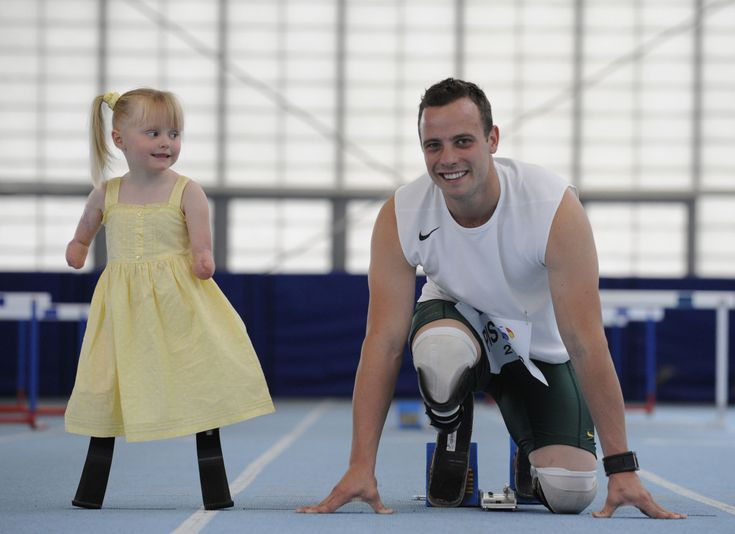 Oscar Pistorius and Ellie: 5 Years Old Ellie, Youngest Personalized, Blade Runners, London Olympics, Andy Hooper, Carbon Fiber, Ellie Challi, Olympian Oscars, Oscar Pistorius